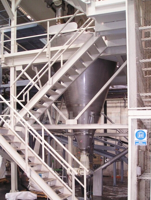 conical screw mixer with frame