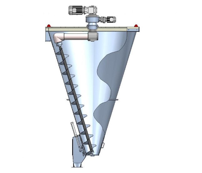 conical screw mixer structure