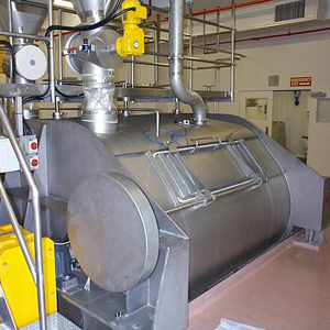 double shafts paddle mixer