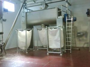 ribbon mixer in flour premix plant